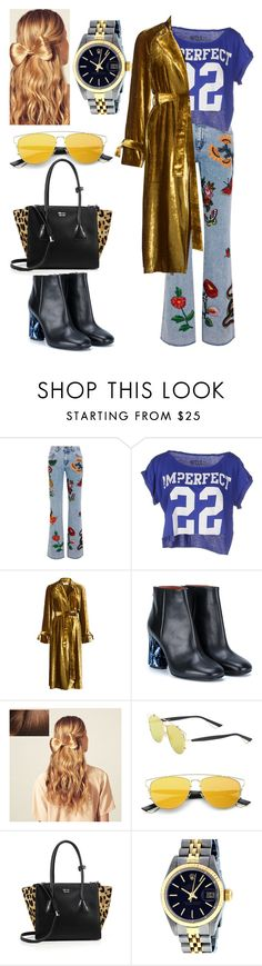 """""""Trouble with the Other"""" by iffieluv ❤ liked on Polyvore featuring Gucci, !M?ERFECT, A.L.C., Acne Studios, Hershesons, Christian Dior, Prada and Rolex"""