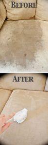 krk.- en sillones de microfibra, pulverizar alcohol desinfectante y despues cepillar