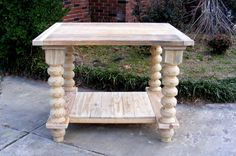 Kitchen Island Completely Handcrafted Solid Pine by TheWoodworkMan, $575.00