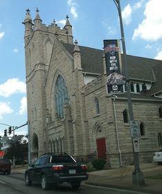 St. John's United Methodist Church, Davenport, Iowa. Clinton Iowa, Christmas Eve Service, Davenport Iowa, Quad Cities, St John's, Beautiful Christmas, Tower Bridge, 6 Years, Old Houses