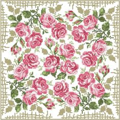 Roses carpet free embroidery design - Cross stitch machine embroidery - Machine embroidery community