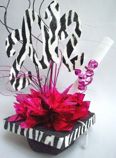 centerpiece with a little zebra print.