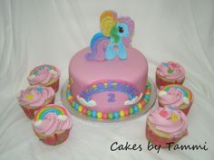 my little pony birthday cake ideas | Red velvet cake w/cheesecake buttercream filling, decorated in fondant ...