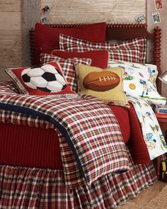 """Wills Plaid"" Bed Linens - Horchow"