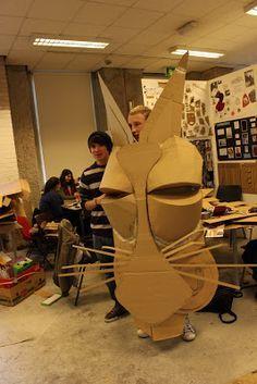 Image result for cardboard mask building