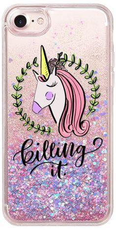 Casetify iPhone 7 Glitter Case - Unicorn Be Killing It by Kiley in Kentucky #Casetify