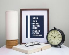 Military Love Quote Print - Air Force Art - Phonetic Alphabet - Home Decor