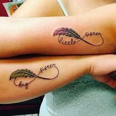 Full Body - 40 Inseparable Sisters Infinity Tattoo You Would Like To . - Full Body – 40 Inseparable Sisters Infinity Tattoo You& Love To See – Jordynn Smith – - Sibling Tattoos, Bff Tattoos, Family Tattoos, Friend Tattoos, Cute Tattoos, Body Art Tattoos, Small Tattoos, Soul Sister Tattoos, Sister Symbol Tattoos