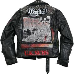 Cast of Vices vintage punk jacket ❤ liked on Polyvore featuring outerwear, jackets, cast of vices, punk jacket, punk rock jacket and vintage jackets