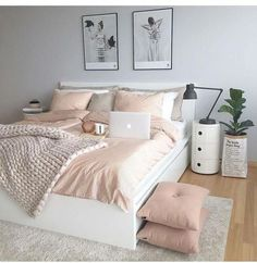 dream rooms for adults bedrooms ~ dream rooms ; dream rooms for adults ; dream rooms for women ; dream rooms for couples ; dream rooms for adults bedrooms ; dream rooms for girls teenagers Pastel Bedroom, Pink Bedroom Decor, White Bedroom, Bedroom Themes, Diy Bedroom, White Bedding, Bright Bedroom Ideas, Teen Bedroom Colors, Pastel Room Decor