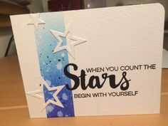 Inspired by Julie Ebersole Written in the Stars stamps and dies by MFT Stacking Stars die by MFT Blue panel ink blended with Distress Inks