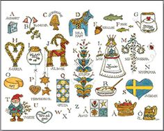 Swedish Alphabet   ----   Jana Johnson Schnoor . (319) 338-1882 . jjschnoor@aol.com ALL IMAGES © Jana Johnson Schnoor