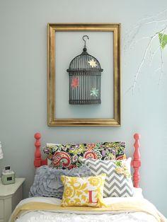 half birdcage wall art
