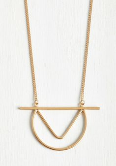 Go Configure Necklace. Well, isnt this gold necklace somethin? #gold #modcloth