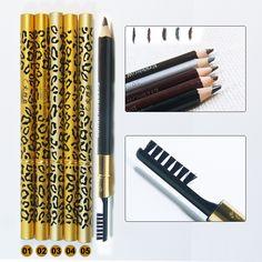 1 cái Kẻ Lông Mày & Bàn Chải lông mày enhancer Longlasting trang điểm bút chì để mắt Hai Sides Với Cọ Make Up Tool