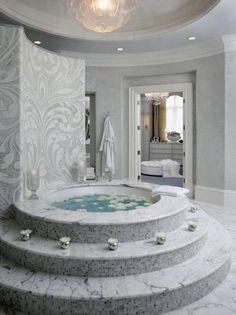 Fabulous round bathtub design ideas luxury master bathroom designs walk in closet