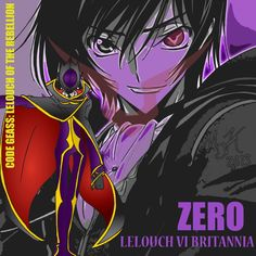 Lelouch Vi Britannia from the anime Code Geass: Lelouch of the Rebellion. One of my most favorite animes ever~!