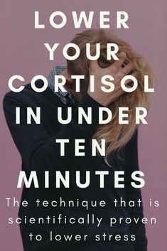 This technique will lower your cortisol in under ten minutes. This is the technique for you. Want a tool to help you destress? How To Lower Cortisol, Reducing Cortisol Levels, Julie Andrews, Marathon Training, High Cortisol Symptoms, Feeling Stressed, Snacks Für Party, Adrenal Fatigue, Wellness