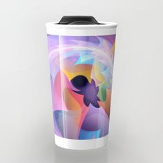 Cyclone of feelings, colourful fractal abstract Travel Mug