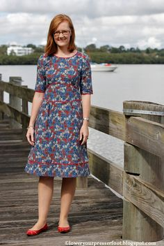 View details for the project Ultimate Member Model Challenge - Piped Seam Liberty Dress on BurdaStyle.