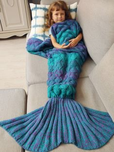Warmth Knitted Fish Scales Mermaid Blanket For Kids Acrylic Solid Online Cheap Blankets, Kids Blankets, Knitting Projects, Crochet Projects, Sewing Projects, Mermaid Tail Blanket, Mermaid Blankets, Mermaid Tails, Knitting Patterns
