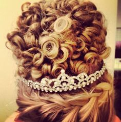 irish dance wig with braid