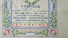 Religious Poems, Vintage Wedding Gifts, Vintage Cross Stitches, Cross Stitch Samplers, Light Beige, Vintage Pictures, Vintage Decor, Needlework, Tapestry