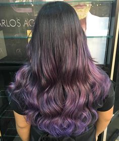 50 Cool Ideas of Lavender Ombre Hair and Purple Ombre Subtle Purple Ombre For Br. 50 Cool Ideas of Purple Ombre, Light Purple Hair, Brunette Ombre, Brunette Color, Hair Color Purple, Cool Hair Color, Dark Hair, Hair Colors, Violet Ombre
