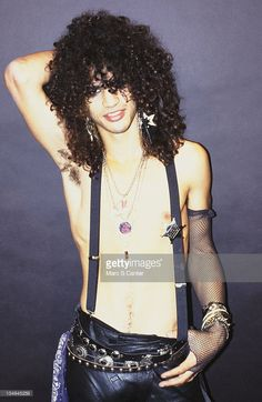 Guitarist Slash of the rock group 'Guns n' Roses' poses for a portrait in October 1985 in Los Angeles, California.