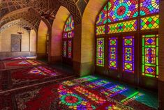 Nasir al-Mulk Mosque in Shiraz, Iran.Built in by the order of Mirzā Hasan Ali (Nasir ol Molk), a Qajar ruler.architecture of the Qajar dynasty Mosque. World Pictures, Daily Pictures, Transformers, Pink Mosque, Qajar Dynasty, Visit Iran, Teheran, Shiraz Iran, Tree Tunnel