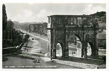 Italy 1930s Real Photo Postcard Roma Rome - Via dei Trionfi Arco di Costantino