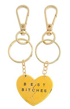 Xiehou Best Bitches Engraved Heart to Heart Chain Key Ring Gold Color Xiehou http://www.amazon.com/dp/B00WEBFZLW/ref=cm_sw_r_pi_dp_IMEnvb0AW36QP