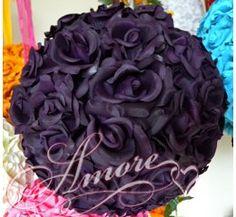 12 Inches Silk Pomander Kissing Ball Lapis Deep-purple $29.99
