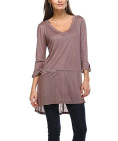 Another great find on #zulily! Toffee Scoop Neck Tunic - Plus #zulilyfinds