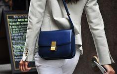 Celine classic box bag - navy blue