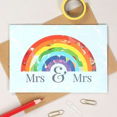 Rainbow Hearts Bridal Shower Invitation Ombre Watercolor Modern