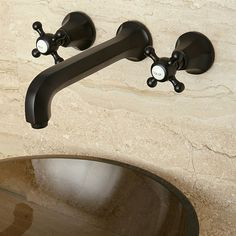 Add lasting beauty and charm to your bathroom decor with the Metropolitan bathroom faucet constructed of solid brass. This faucet features a widespread wall-mount style and an oil rubbed bronze finish.