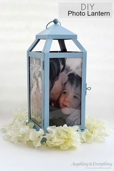 This DIY Photo Lantern is perfect to hold those memories and give as gifts, or use them as centerpieces at your wedding. The possibilities are endless! All you need is a lantern, paint, and your pictures printed out on vellum paper to make these memorable photo lanterns! #MonthlyDiyChallenge