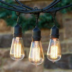 guirnaldas de bombillas pies con e sockets incluyen st bulbos edison regulables exterior