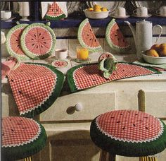 kit de decoração de cozinha ( melancia)