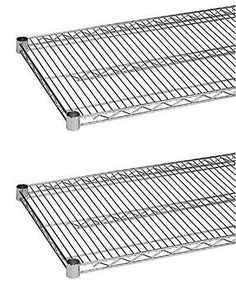 Shelves 134649: Commercial Wire Shelving Heavy Duty Chrome Plated Set Of 2 Shelves 14In X 36In -> BUY IT NOW ONLY: $57.49 on eBay!