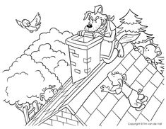 Three Little Pigs Coloring Sheet