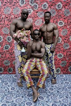 Untitled (Musclemen series), 2012 by Leonce Raphael Agbodjelou. Born 1965, Porto Novo, Benin. // Agbodjelou is one of the pre-eminent photographers of the Republic of Benin, based in the capital Porto Novo. Trained by his father, the world-renowned photographer Joseph Moise Agbodjelou (1912-2000), he has since developed his own individual style in contemporary and innovative ways. #africa #contemporary #photography