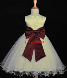 burgandy and ivory flower girls baskets ideas - Google Search