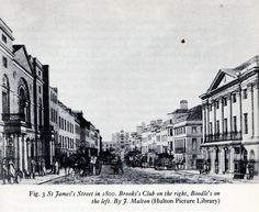 1800 St. James's Street, London. Brook's Club on the right and Boodle's on the left. suzilove.com