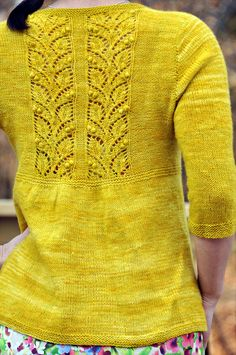 Here is the perfect yellow cardigan...!