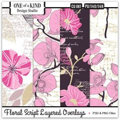 Floral Script Layered Overlays