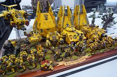That yellow army from Japan. :-) Ryogo had marvelous painted yellow models. It makes me yellow. :-P