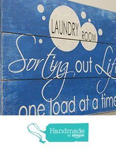 Laundry Room Sign from Rusticly Inspired Signs https://www.amazon.com/dp/B01M3UPZBB/ref=hnd_sw_r_pi_dp_1Xkeyb0AXQJXB #handmadeatamazon