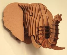 Cardboard elephant for real jungle vibes